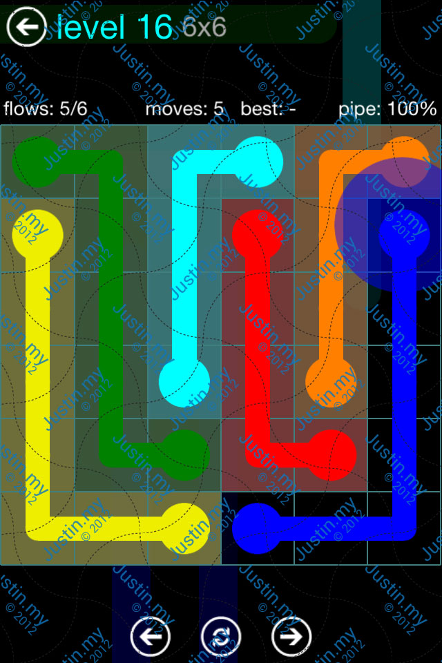 Flow Game Blue Pack 6x6 Level 15
