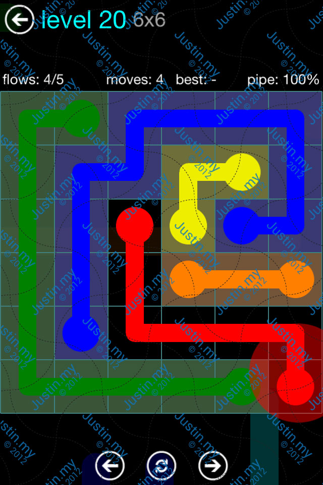 Flow Game Blue Pack 6x6 Level 19