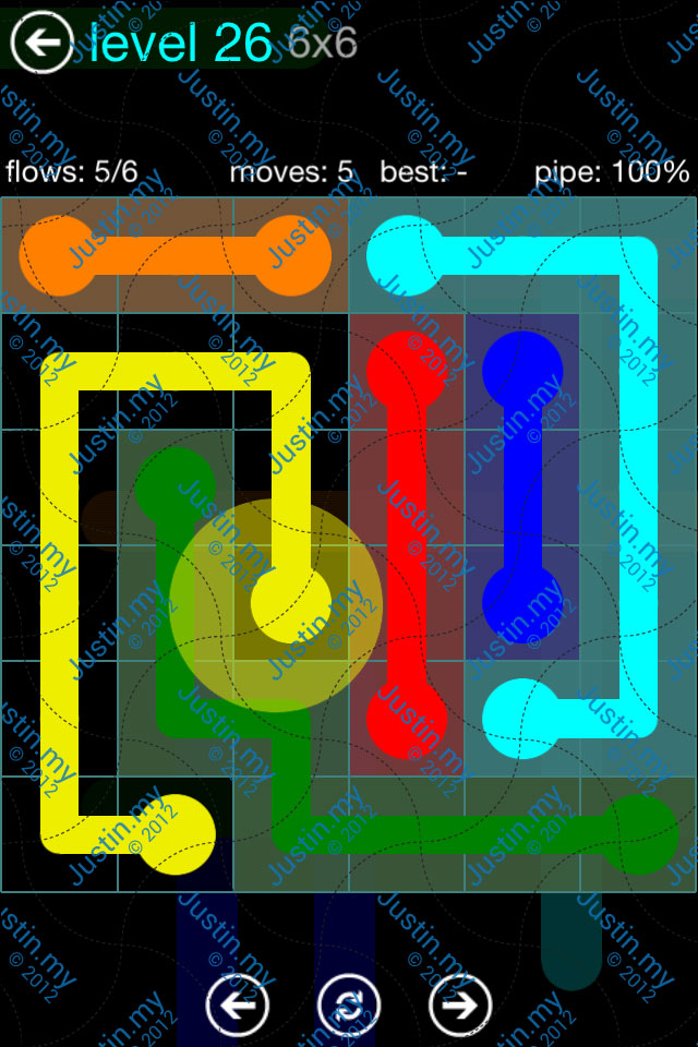 Flow Game Blue Pack 6x6 Level 25