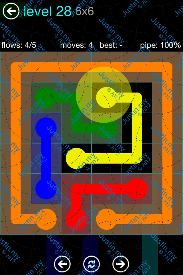 Flow Game Blue Pack 6x6 Level 27