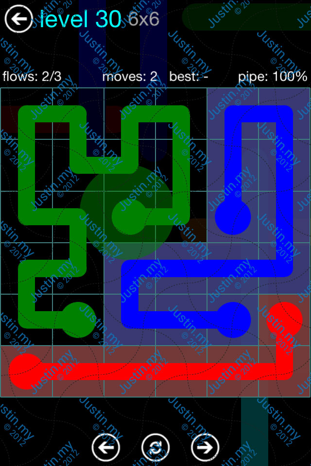 Flow Game Blue Pack 6x6 Level 29