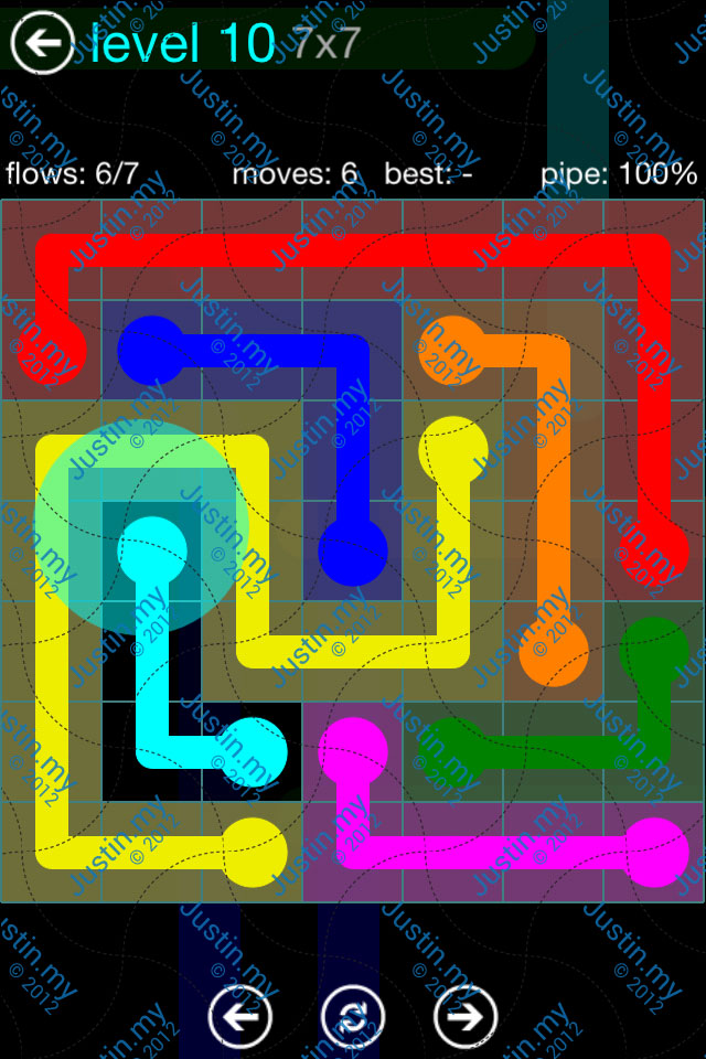 Flow Game Blue Pack 7x7 Level 09