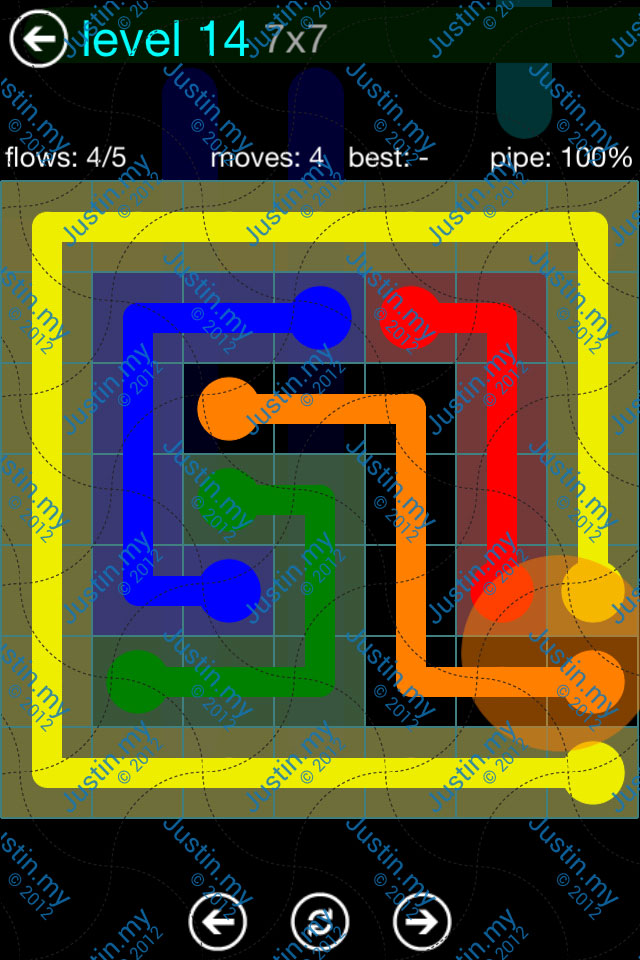 Flow Game Blue Pack 7x7 Level 13