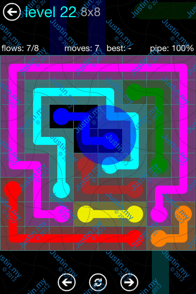 Flow Game Blue Pack 8x8 Level 21