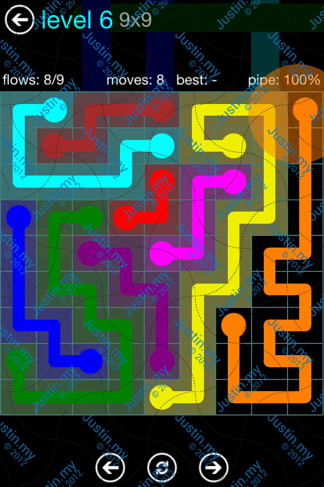 Flow Game Blue Pack 9x9 Level 06