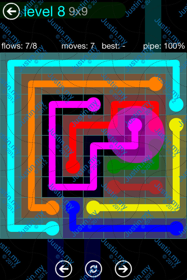 Flow Game Blue Pack 9x9 Level 07