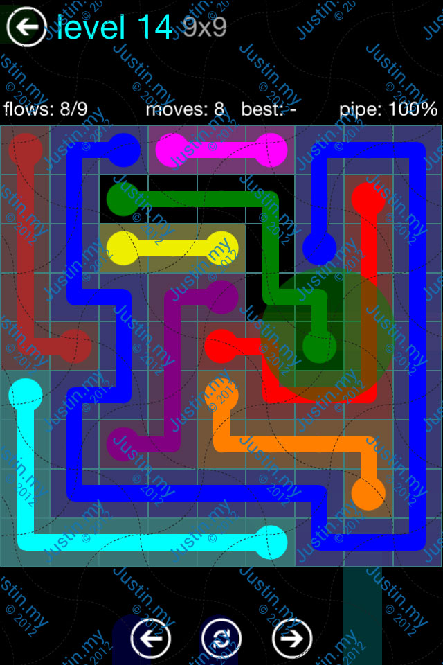 Flow Game Blue Pack 9x9 Level 13