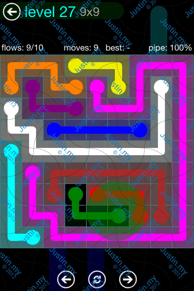 Flow Game Blue Pack 9x9 Level 27