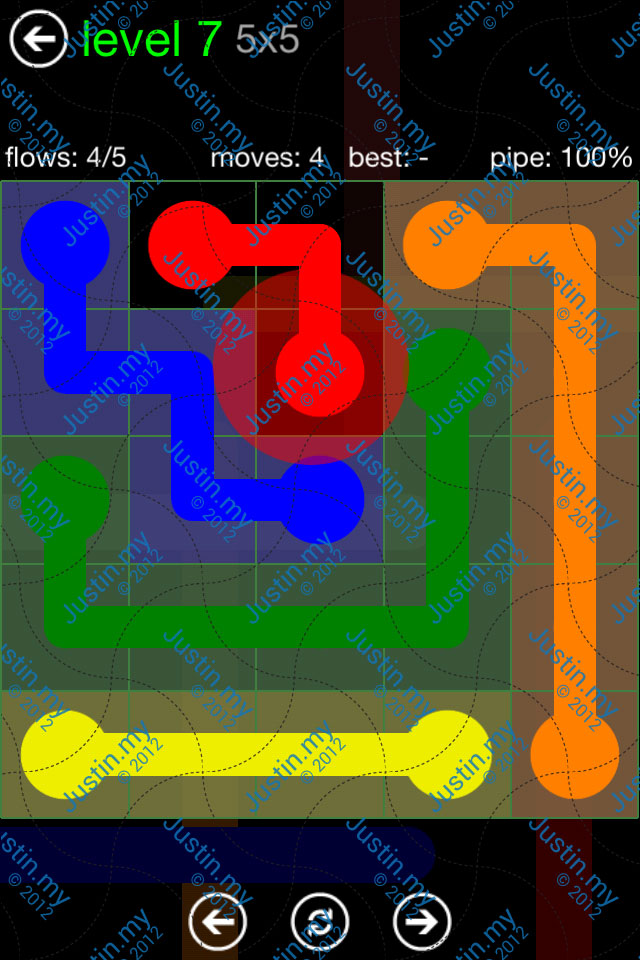 Flow Game Green Pack 5x5 Level 07