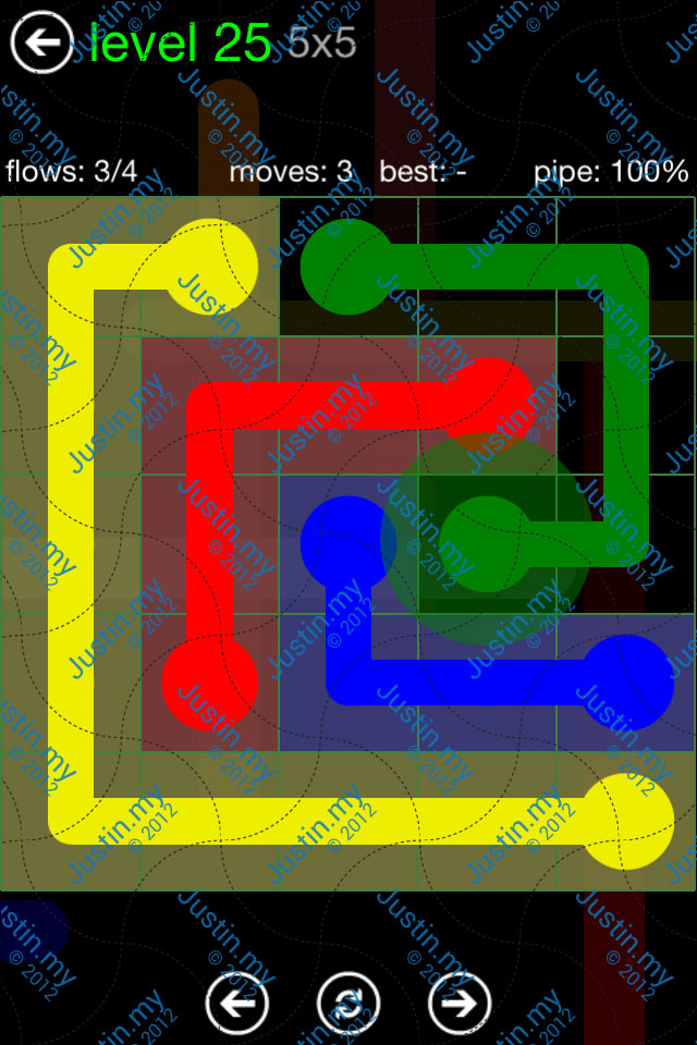 Flow Game Green Pack 5x5 Level 25