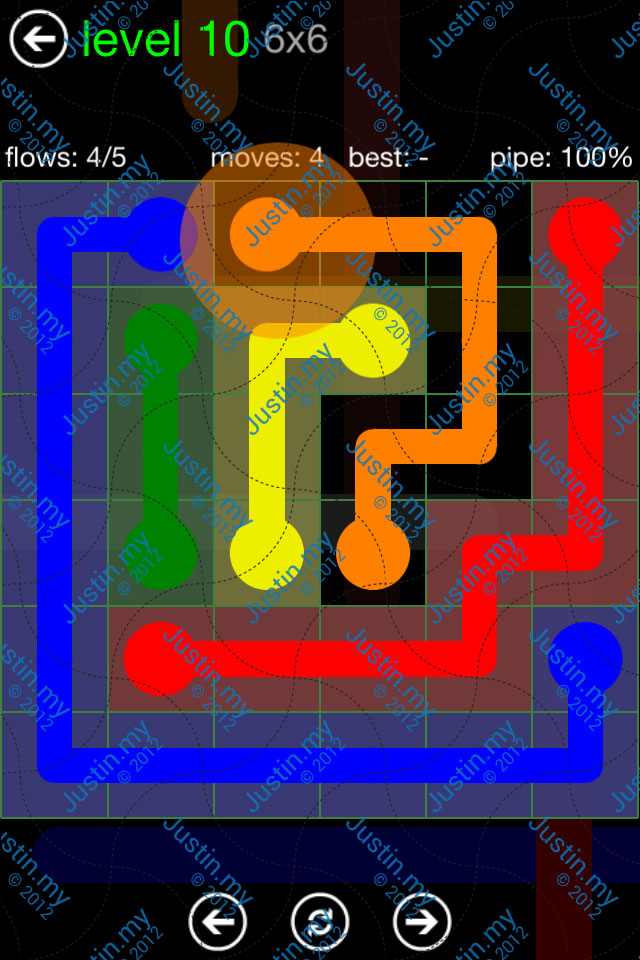 Flow Game Green Pack 6x6 Level 10
