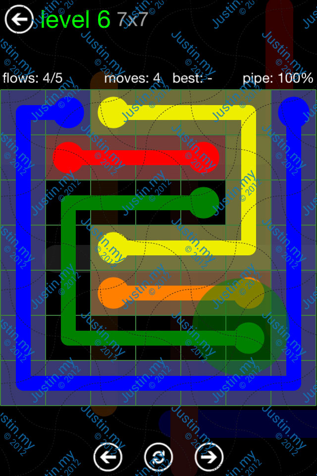 Flow Game Green Pack 7x7 Level 06