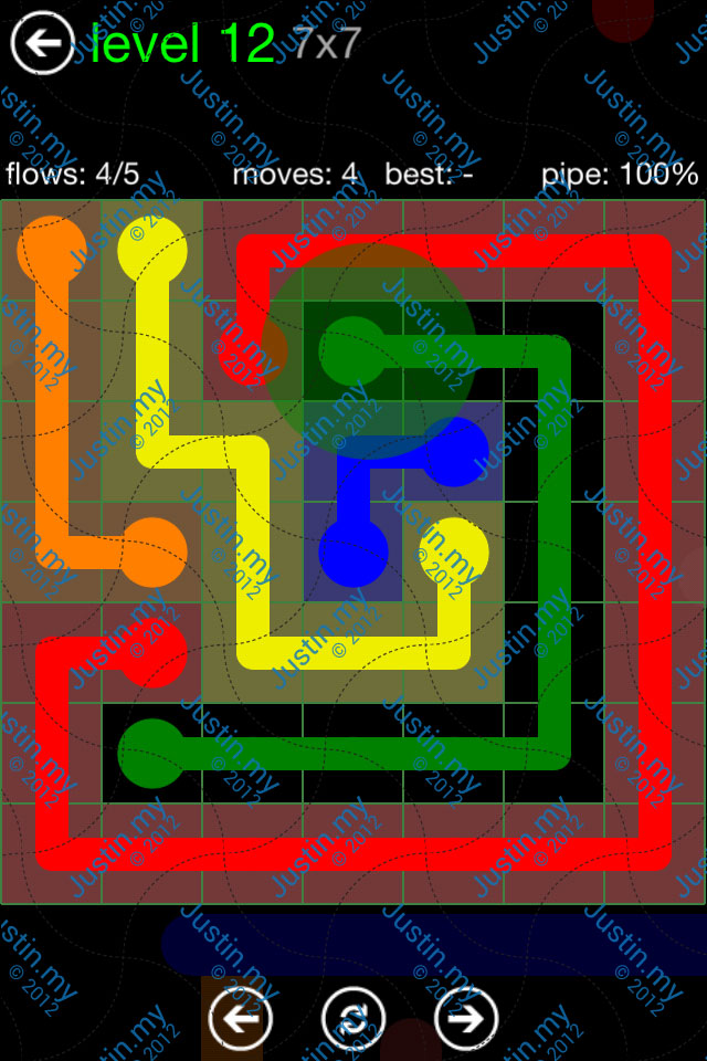Flow Game Green Pack 7x7 Level 12