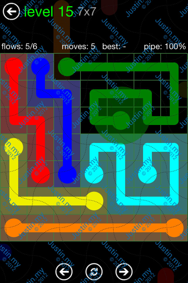 Flow Game Green Pack 7x7 Level 15