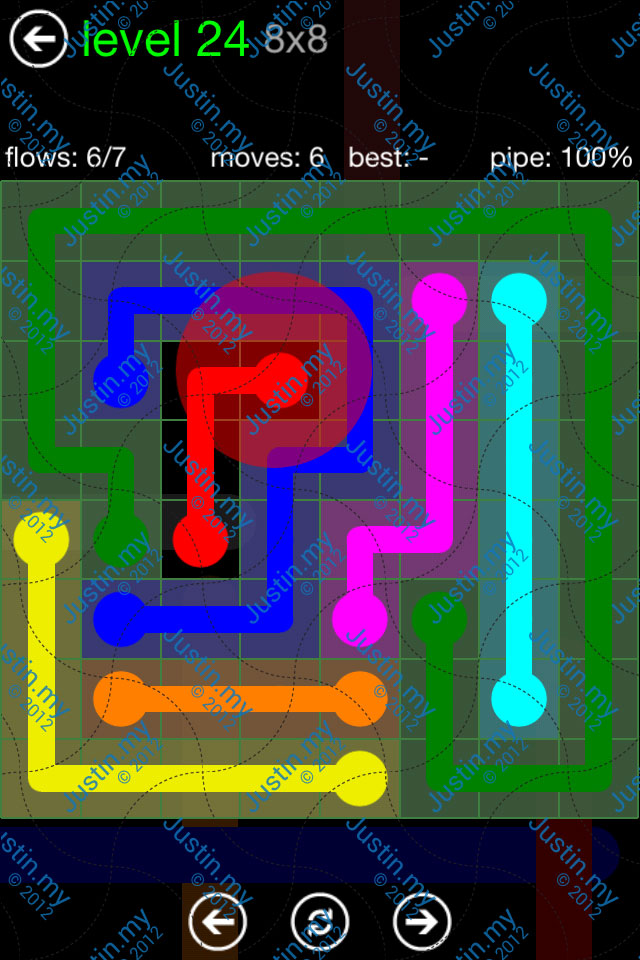 Flow Game Green Pack 8x8 Level 24