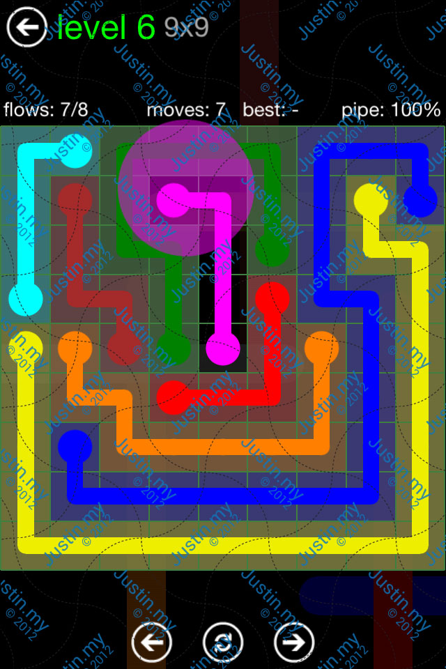 Flow Game Green Pack 9x9 Level 06