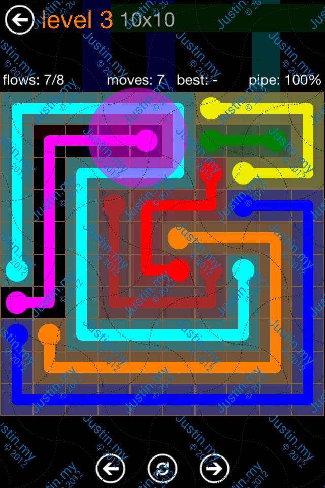 Flow Game Jumbo Pack 10x10 Level 03