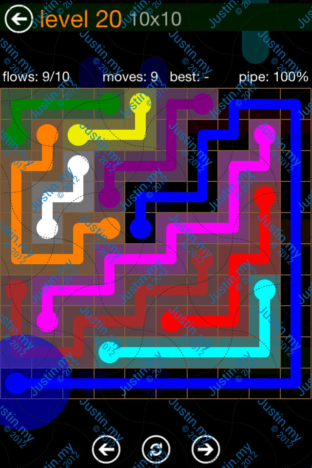 Flow Game Jumbo Pack 10x10 Level 20