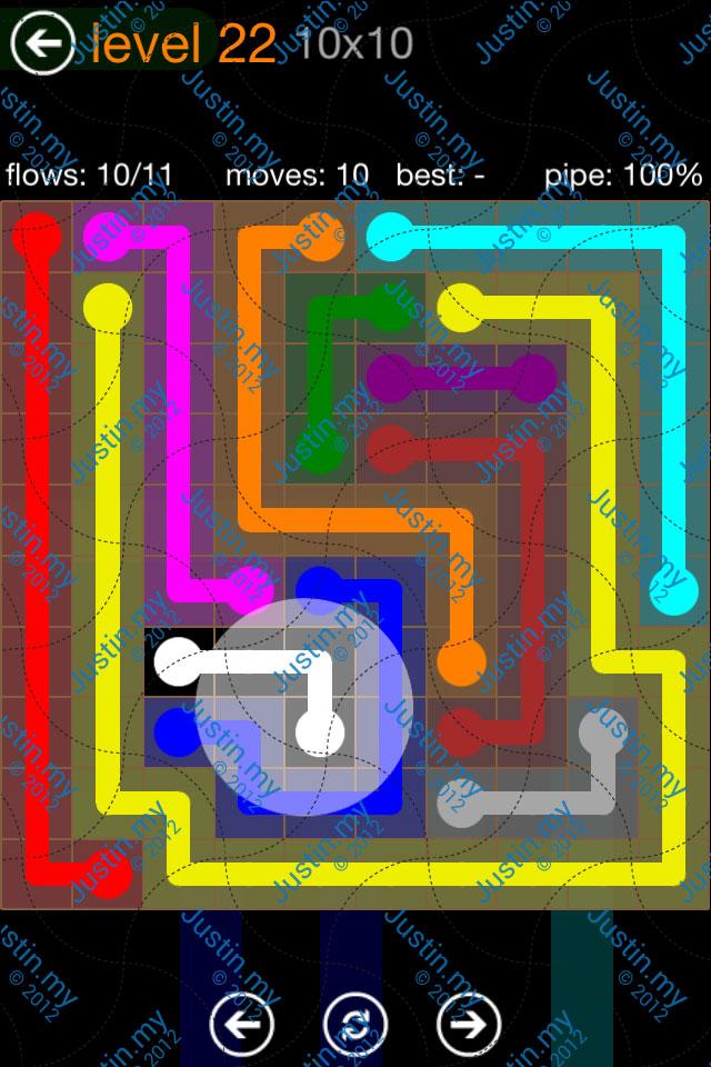 Flow Game Jumbo Pack 10x10 Level 22