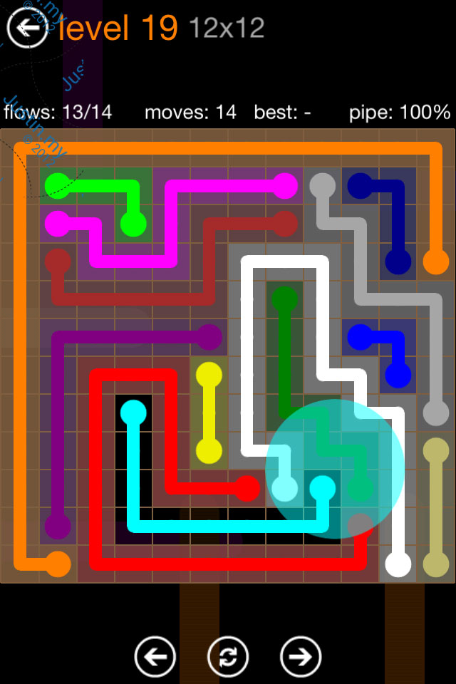 Flow Game Jumbo Pack 12x12 Level 19