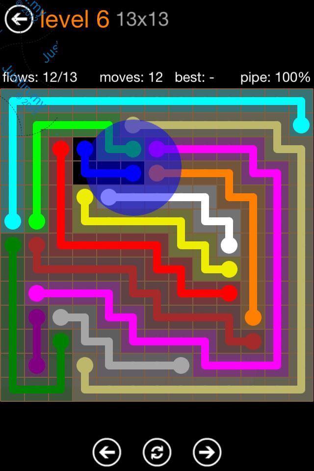 Flow Game Jumbo Pack 13x13 Level 06