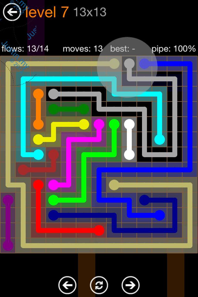 Flow Game Jumbo Pack 13x13 Level 07