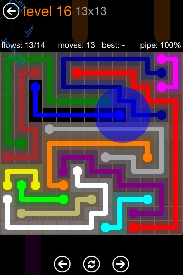 Flow Game Jumbo Pack 13x13 Level 16