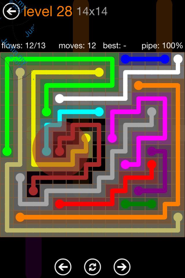 Flow Game Jumbo Pack 14x14 Level 28