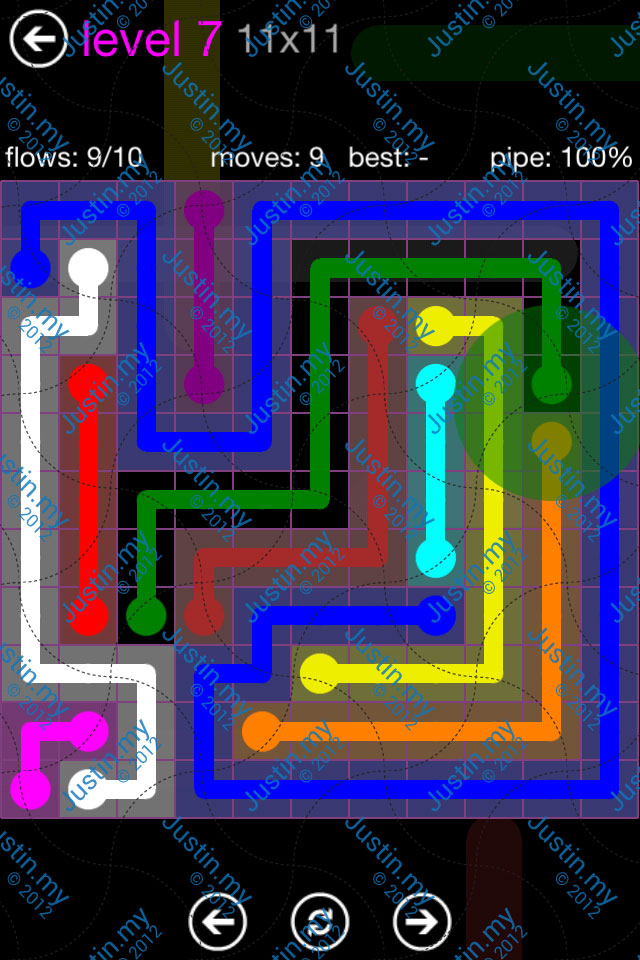 Flow Game Purple Pack 11x11 Level 07