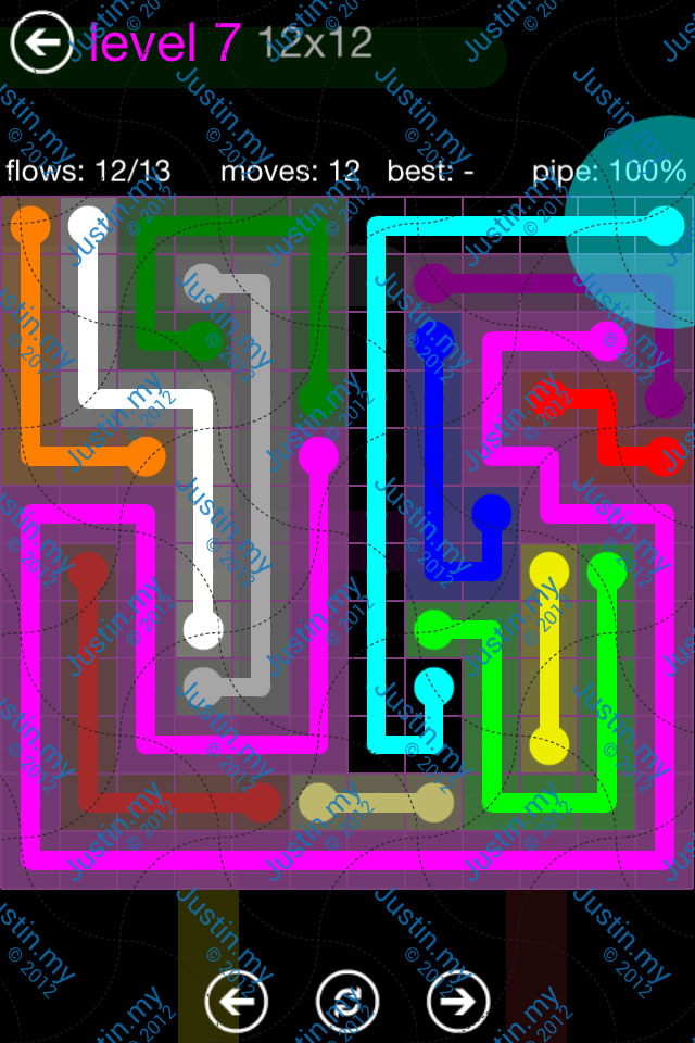 Flow Game Purple Pack 12x12 Level 07