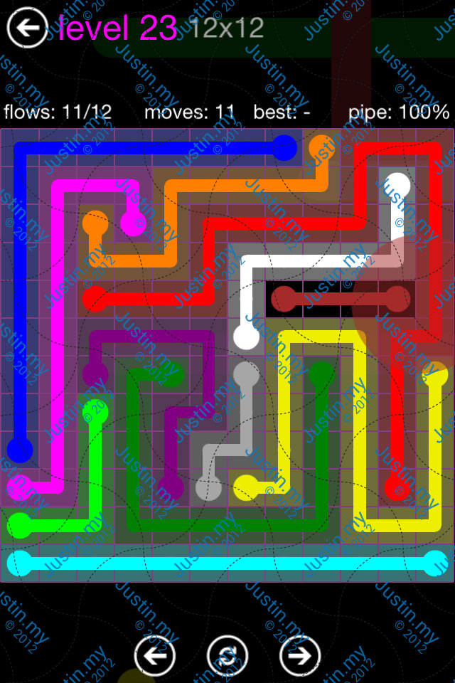 Flow Game Purple Pack 12x12 Level 23