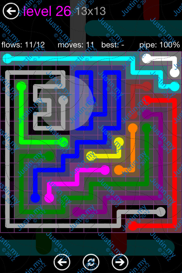 Flow Game Purple Pack 13x13 Level 26