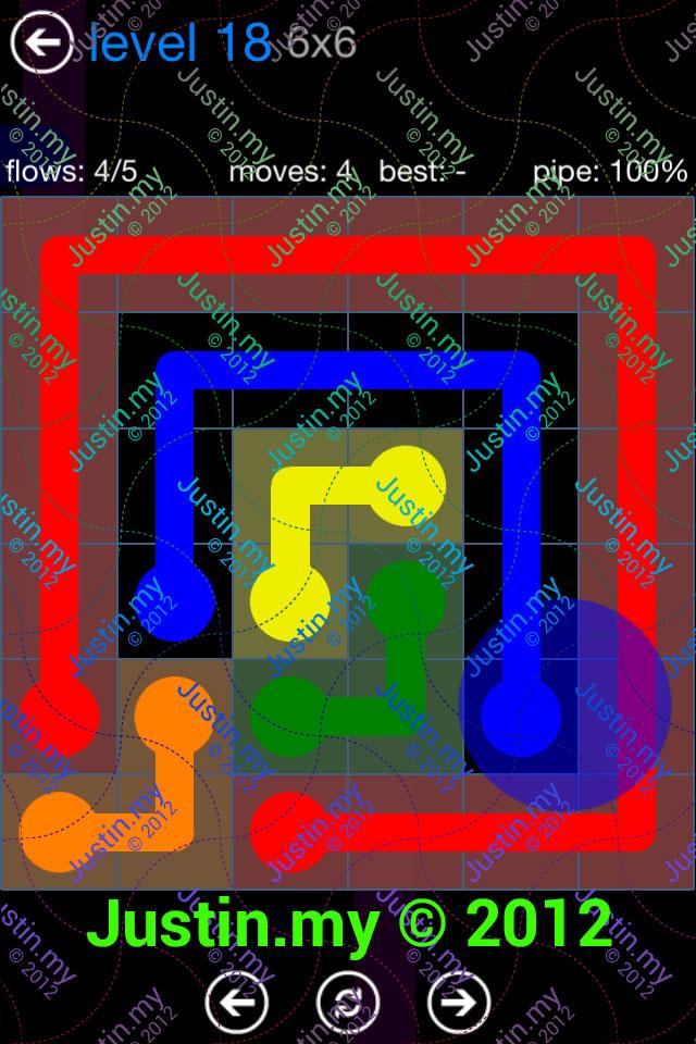 Flow Game Bonus Pack 6x6 Level 18