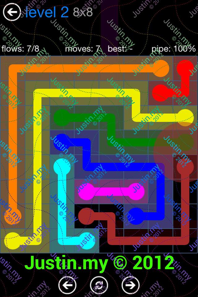 Flow Game Bonus Pack 8x8 Level 02