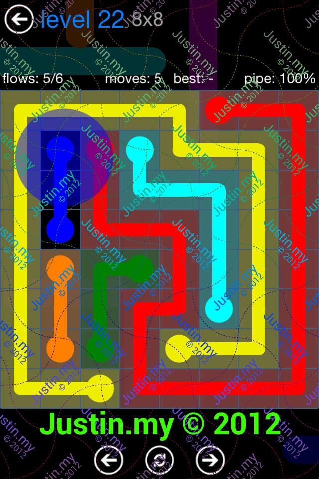 Flow Game Bonus Pack 8x8 Level 22