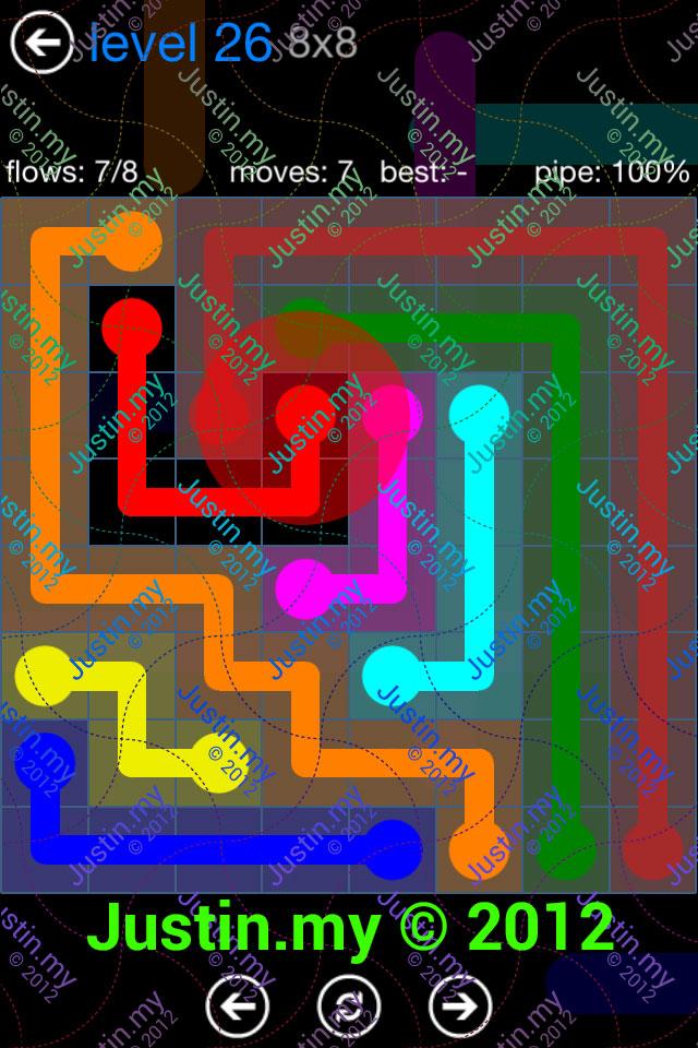 Flow Game Bonus Pack 8x8 Level 26