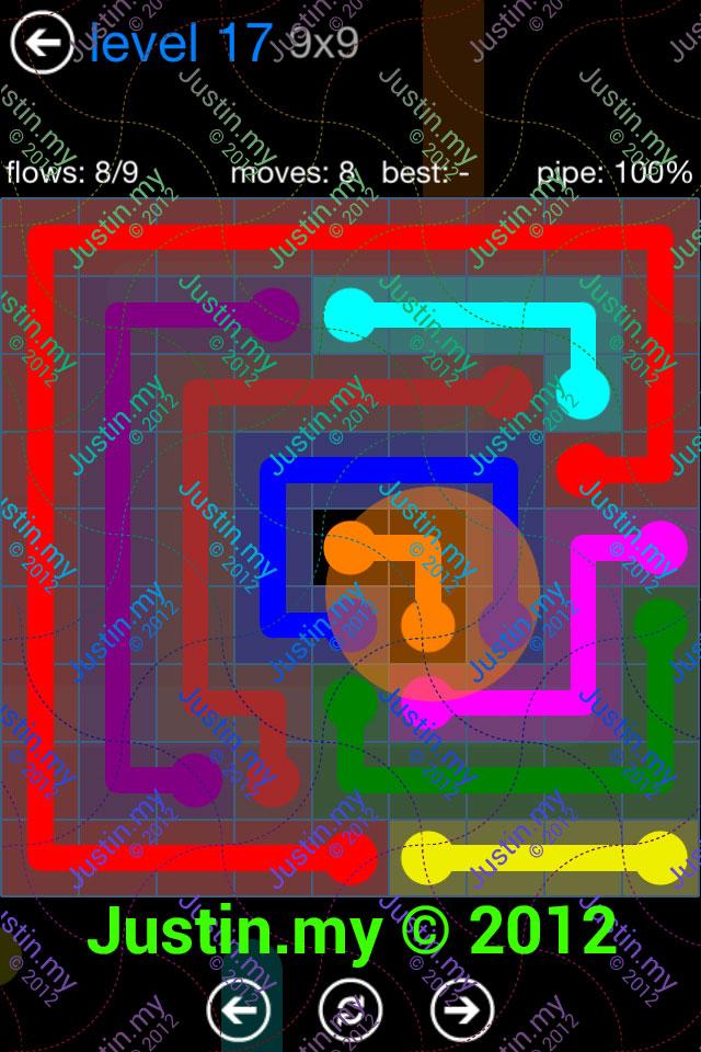Flow Game Bonus Pack 9x9 Level 17
