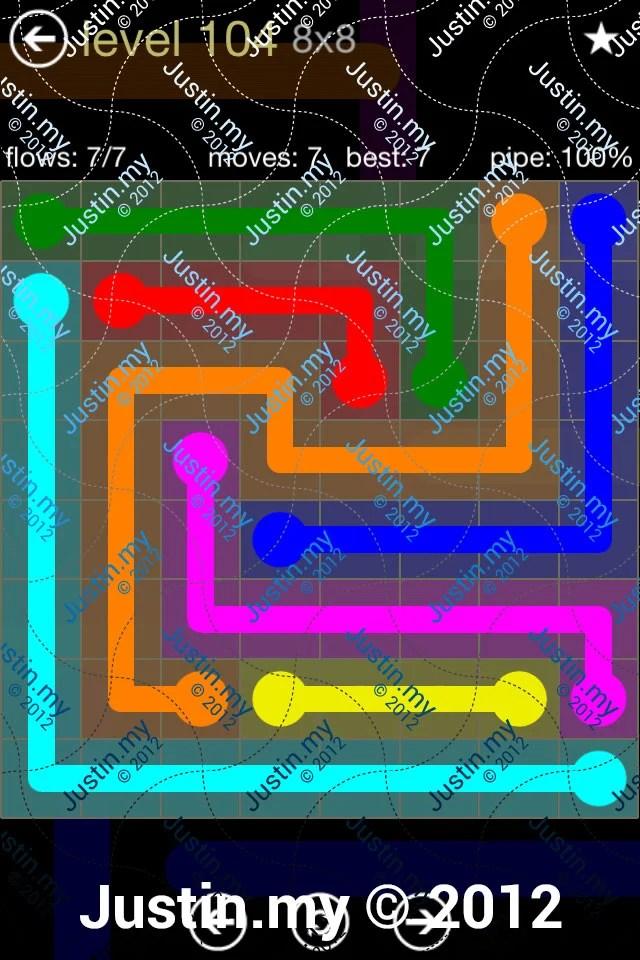 Flow 8x8 Mania Level 104