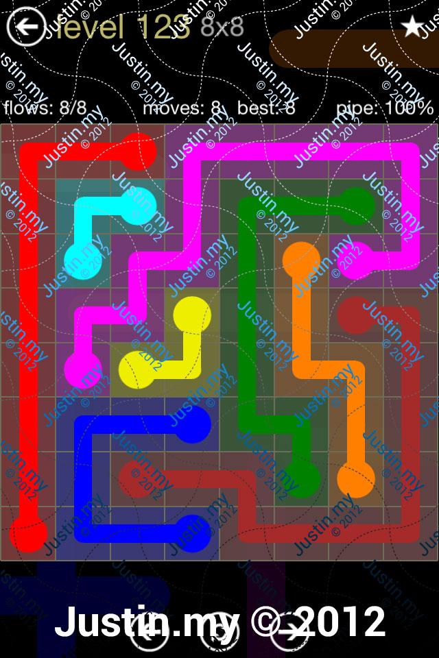 Flow 8x8 Mania Level 123