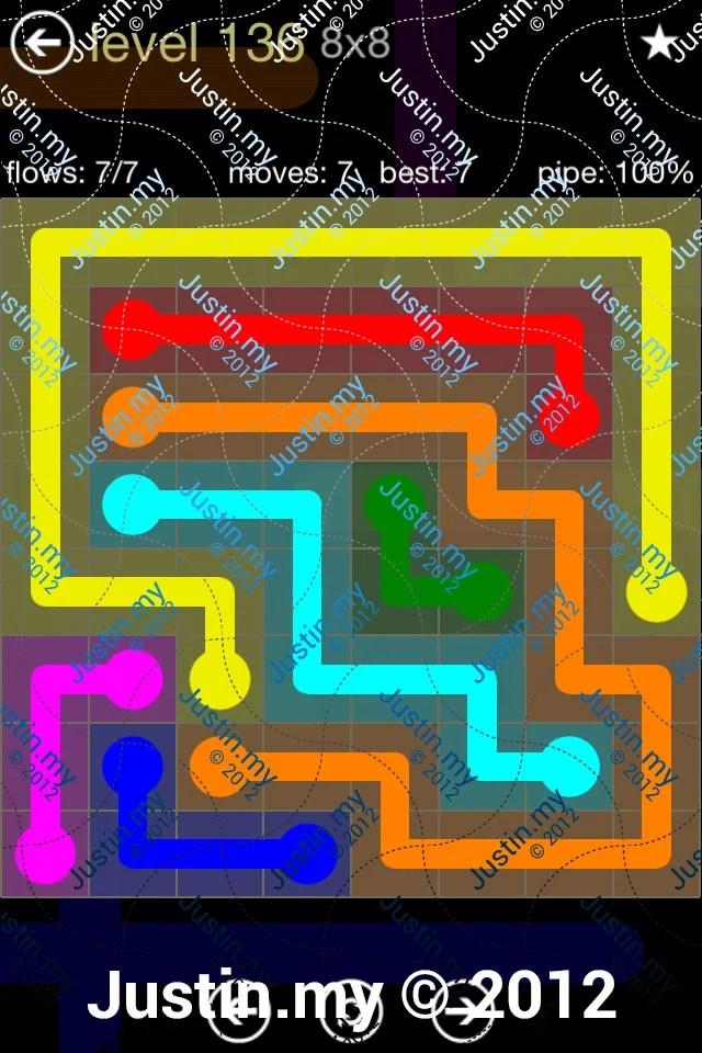 Flow 8x8 Mania Level 136
