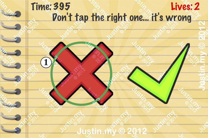 Impossible Test Answers Level 45