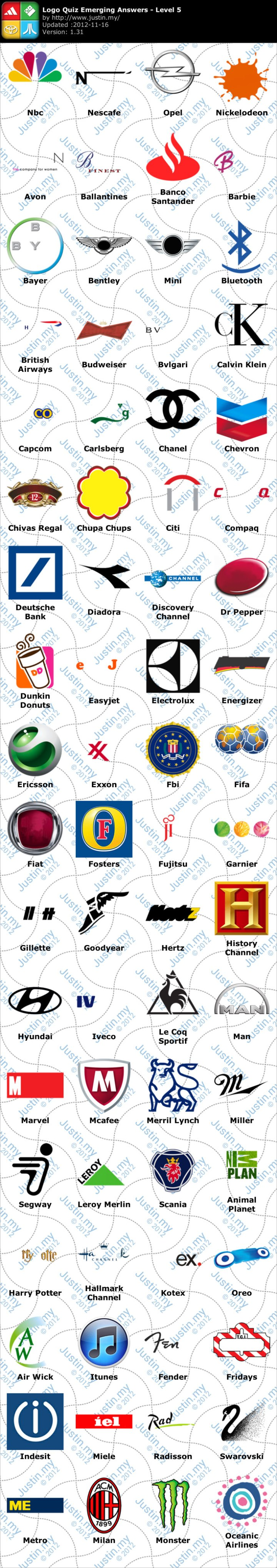 Logo Quiz Ultimate Logo Quiz Emerging Games Level 5