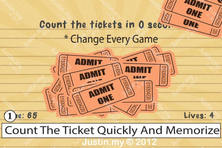 Impssible Test 2 - Count the tickets in 10 seconds