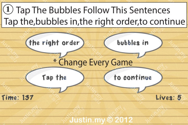 Impssible Test 2 - Tap the bubbles in the right order