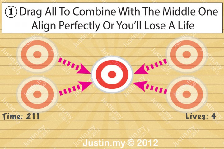 Impssible Test 2 - Put all the targets on top of the middle one