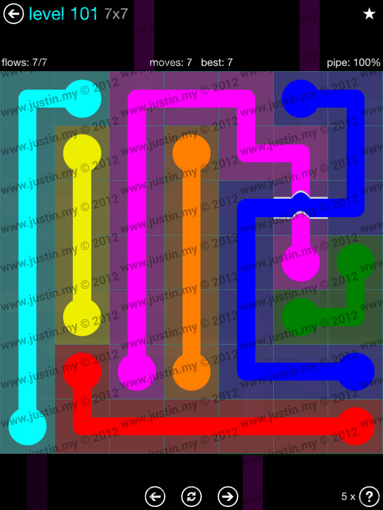 Flow Bridges 7x7 Mania  Level 101