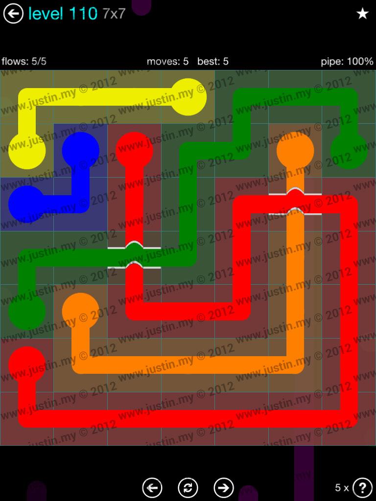 Flow Bridges 7x7 Mania  Level 110