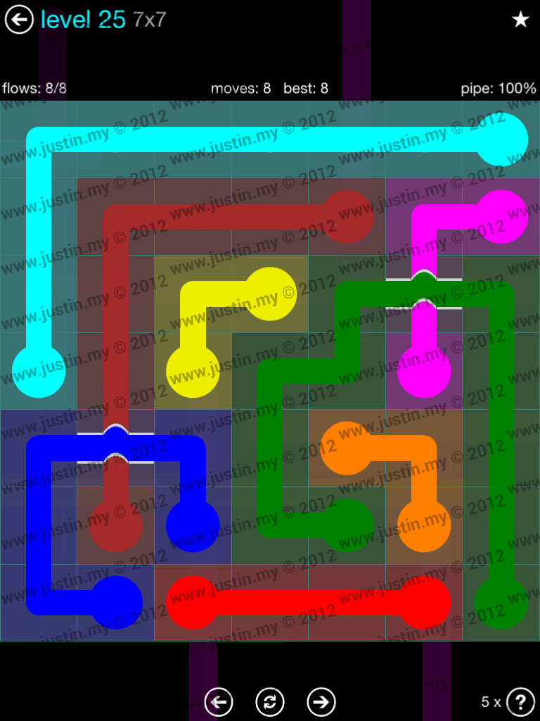 Flow Bridges 7x7 Mania  Level 25