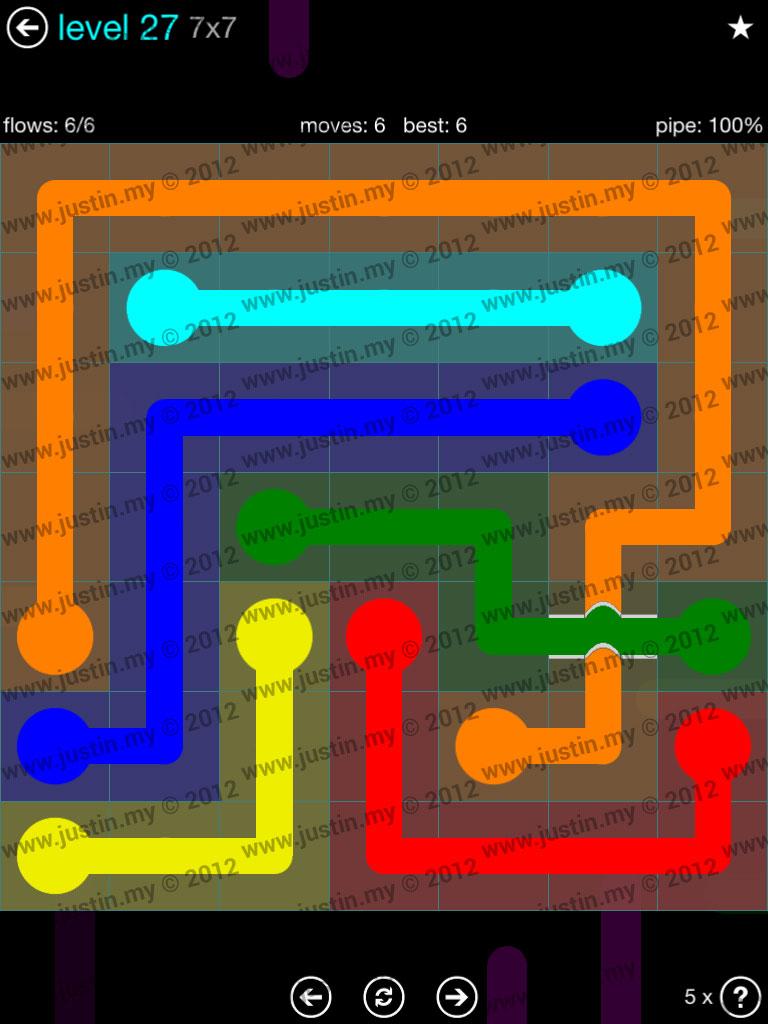 Flow Bridges 7x7 Mania  Level 27