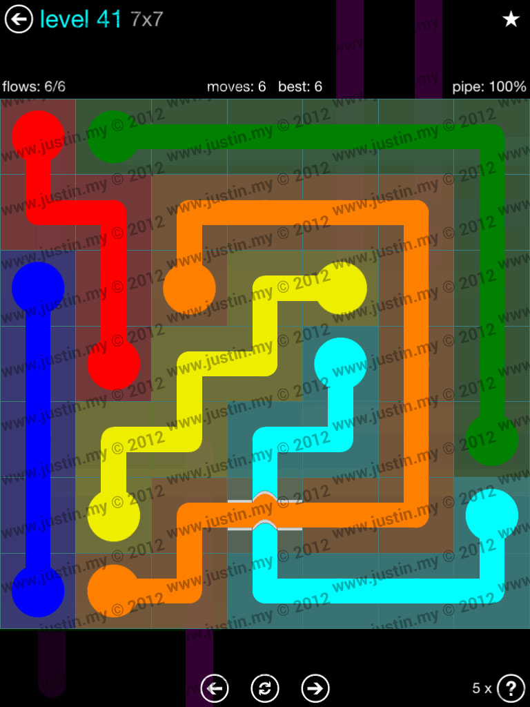 Flow Bridges 7x7 Mania  Level 41